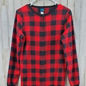 Jelli Fish Boys Fleece Pajamas XL 14/16 Red Black